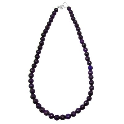 Purple Agate Round and Cut Beads Necklace 198 cts