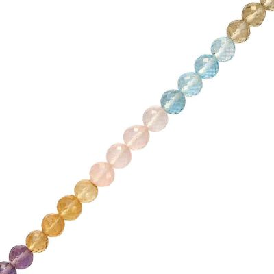 35 cts 1.9x3.2 mm Roundel Faceted Multi Sapphire Beads Strand