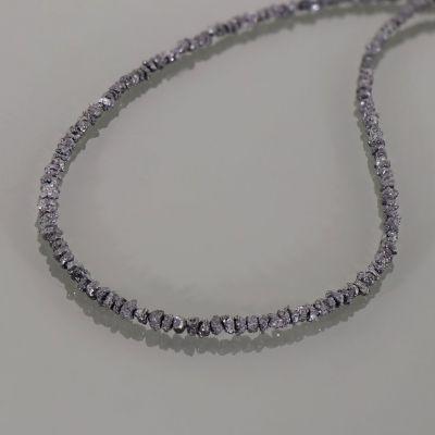 Grey Diamond Chips Beads String